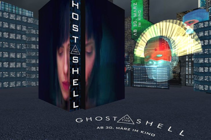 Bild: Bild: Screenshot Ghost in the Shell-Ad von bam!