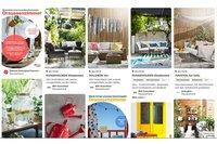 """Nutzer können sich aus Ikea-Artikeln ein """"Draussenzimmer"""" erstellen. , Bild: Screenshot Kampagnenseite Pinterest"""