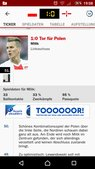Screenshot: Kicker-App