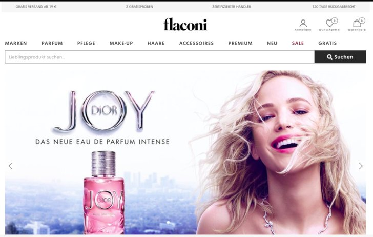 Bild: Screenshot Flaconi