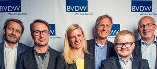 Präsidium 2015 v.l.: Thomas Duhr, Marco Zingler, Melina Ex, Matthias Wahl, Thorben Fasching, Achim Himmelreich, Foto: BVDW