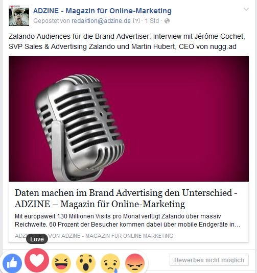 Screenshot Adzine@Facebook