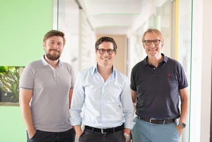 v. l. n. r. André Vieregge, Matthias Weth und Hubertus Maske, Bild: Syzygy Presse