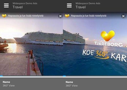 Screenshot Widespace-Demo: Tjärborg Kampagne 360 grad