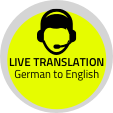 Button Live Translation German to English