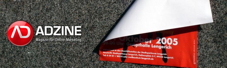 ADZINE KW 41 - Auslaufmodell Wallpaper  + Muss Mobile-Werbung teurer werden? ()